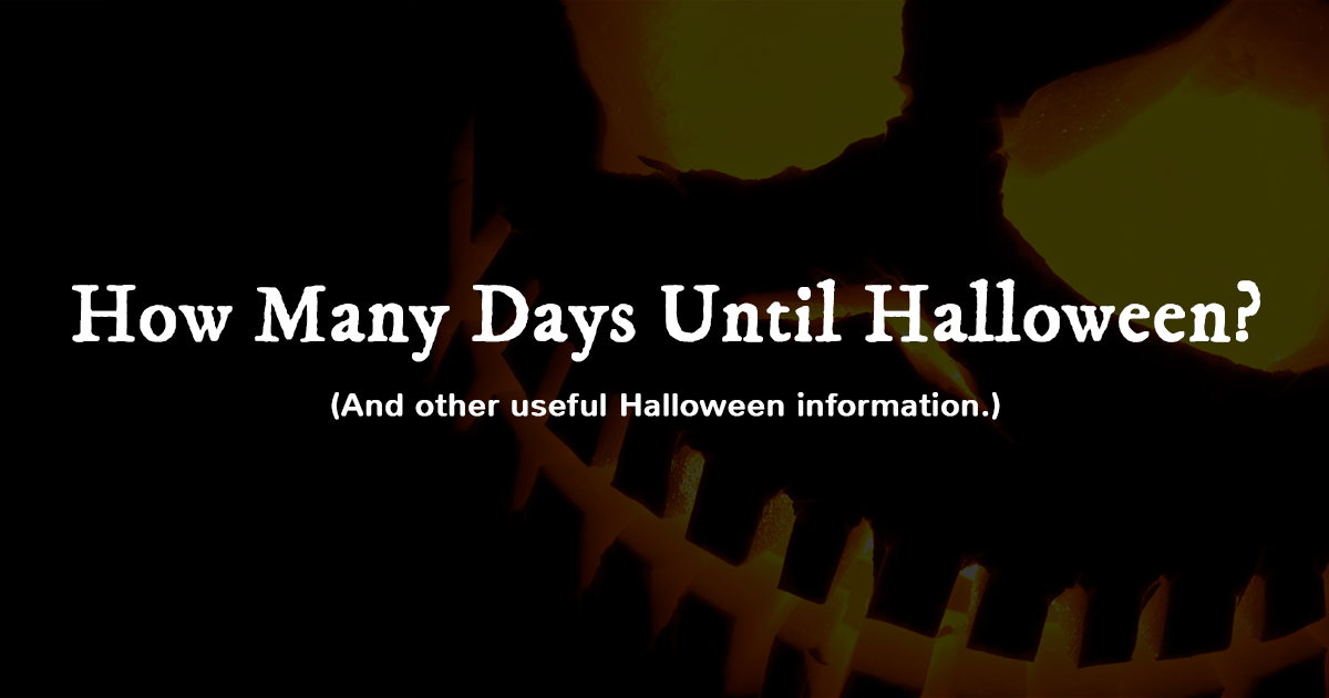 How Many Days Until Halloween 2018?